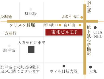 un-jour MAP 心斎橋駅徒歩1分